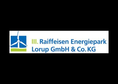 Raiffeisenwindpark Energiepark Lorup Verwaltungs GmbHKunden- und Vertreterportal und DMS-System mit WWS-Anbindung
